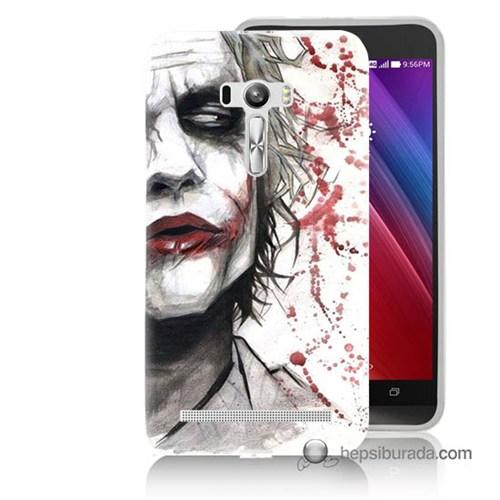 Teknomeg Asus Zenfone Selfie Kapak Kılıf Kanlı Joker Baskılı Silikon