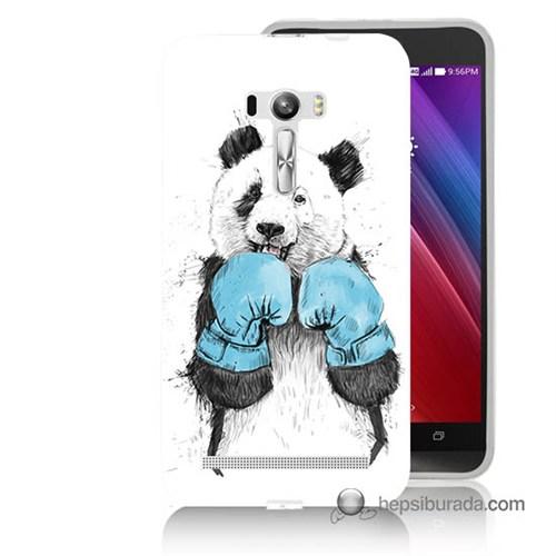 Teknomeg Asus Zenfone Selfie Kılıf Kapak Boksör Panda Baskılı Silikon