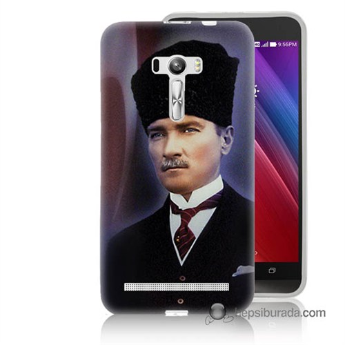 Teknomeg Asus Zenfone Selfie Kılıf Kapak Mustafa Kemal Atatürk Baskılı Silikon