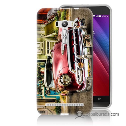 Teknomeg Asus Zenfone Selfie Kapak Kılıf Klasik Araba Baskılı Silikon