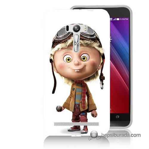 Teknomeg Asus Zenfone Selfie Kılıf Kapak Çizgi Karakter Baskılı Silikon