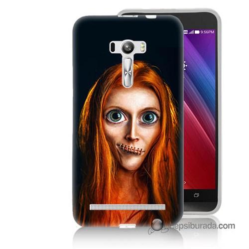 Teknomeg Asus Zenfone Selfie Kılıf Kapak Zombie Kız Baskılı Silikon