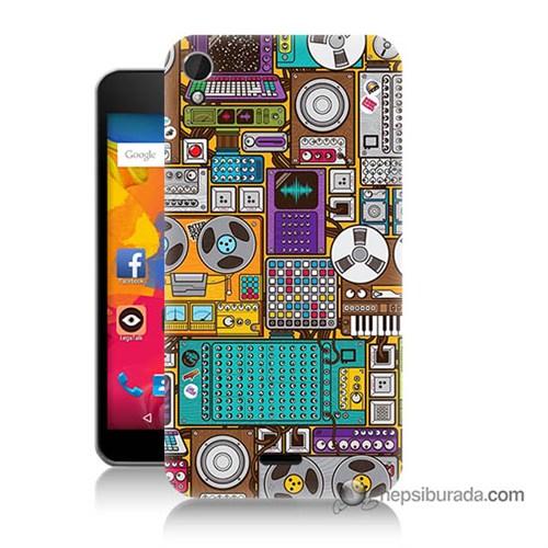 Teknomeg Casper Via V3 Kılıf Kapak Teknoloji Baskılı Silikon