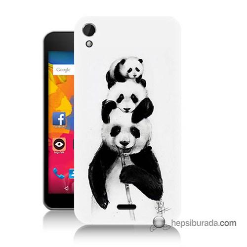 Teknomeg Casper Via V3 Kapak Kılıf Panda Ailesi Baskılı Silikon