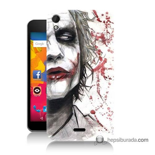 Teknomeg Casper Via V3 Kapak Kılıf Kanlı Joker Baskılı Silikon