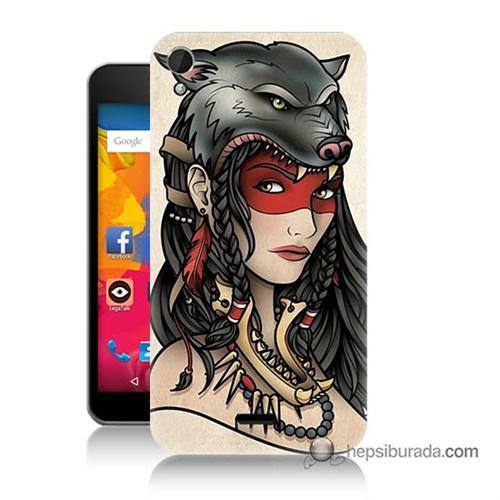 Teknomeg Casper Via V3 Kapak Kılıf Pocahontas Baskılı Silikon