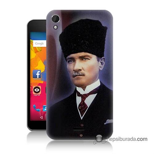 Teknomeg Casper Via V3 Kılıf Kapak Mustafa Kemal Atatürk Baskılı Silikon