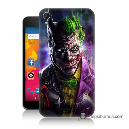 Teknomeg Casper Via V3 Kılıf Kapak Batman Vs Joker Baskılı Silikon