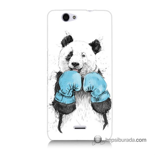 Teknomeg Casper Via V5 Kılıf Kapak Boksör Panda Baskılı Silikon