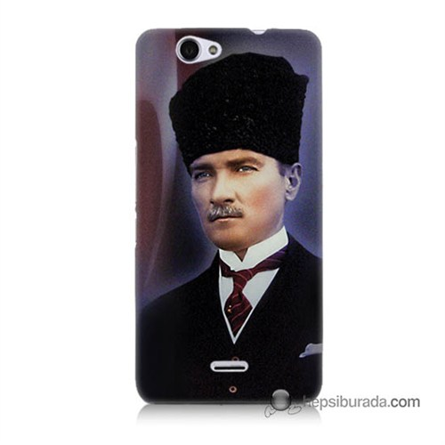 Teknomeg Casper Via V5 Kılıf Kapak Mustafa Kemal Atatürk Baskılı Silikon