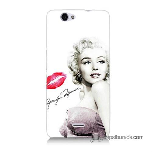 Teknomeg Casper Via V5 Kapak Kılıf Marilyn Monroe Baskılı Silikon