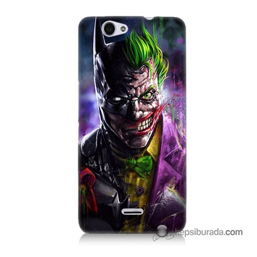 Teknomeg Casper Via V5 Kılıf Kapak Batman Vs Joker Baskılı Silikon