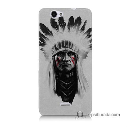 Teknomeg Casper Via V5 Kılıf Kapak Geronimo Baskılı Silikon