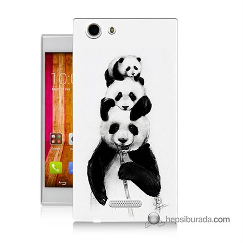 Teknomeg Casper Via V6x Kapak Kılıf Panda Ailesi Baskılı Silikon