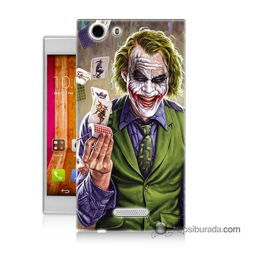 Teknomeg Casper Via V6x Kılıf Kapak Kartlı Joker Baskılı Silikon