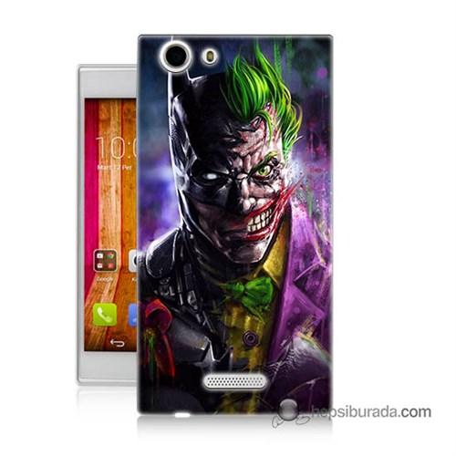 Teknomeg Casper Via V6x Kılıf Kapak Batman Vs Joker Baskılı Silikon