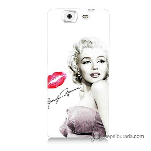 Teknomeg Casper Via V8 Kapak Kılıf Marilyn Monroe Baskılı Silikon