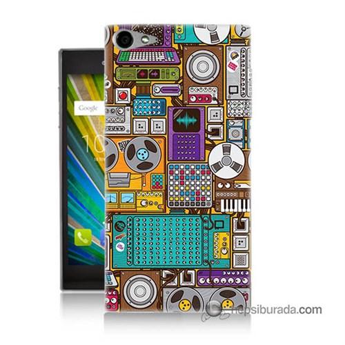 Teknomeg Casper Via V9 Kılıf Kapak Teknoloji Baskılı Silikon