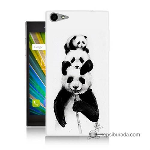 Teknomeg Casper Via V9 Kapak Kılıf Panda Ailesi Baskılı Silikon