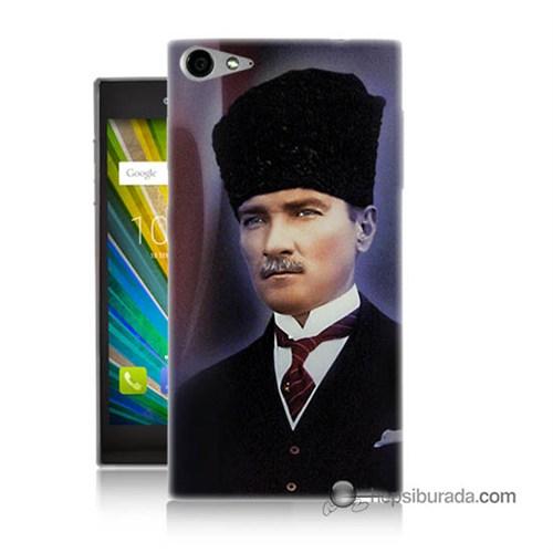 Teknomeg Casper Via V9 Kılıf Kapak Mustafa Kemal Atatürk Baskılı Silikon