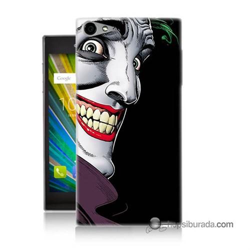 Teknomeg Casper Via V9 Kapak Kılıf Joker Baskılı Silikon