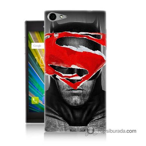 Teknomeg Casper Via V9 Kapak Kılıf Batman Vs Superman Baskılı Silikon