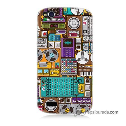 Teknomeg General Mobile Discovery Kılıf Kapak Teknoloji Baskılı Silikon