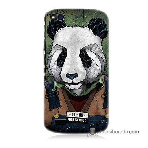 Teknomeg General Mobile Discovery Kapak Kılıf İşçi Panda Baskılı Silikon
