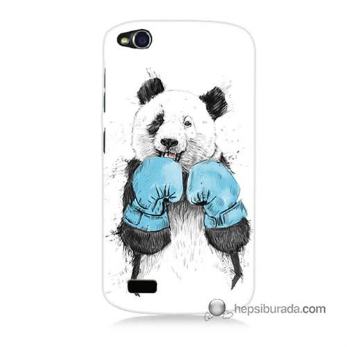 Teknomeg General Mobile Discovery Kılıf Kapak Boksör Panda Baskılı Silikon