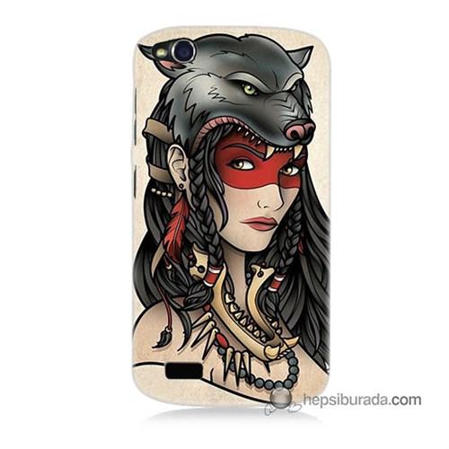 Teknomeg General Mobile Discovery Kapak Kılıf Pocahontas Baskılı Silikon
