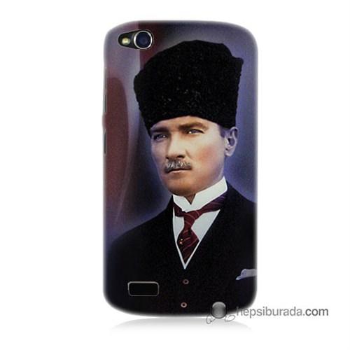 Teknomeg General Mobile Discovery Kılıf Kapak Mustafa Kemal Atatürk Baskılı Silikon