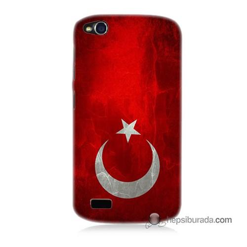 Teknomeg General Mobile Discovery Kılıf Kapak Türkiye Bayrağı Baskılı Silikon