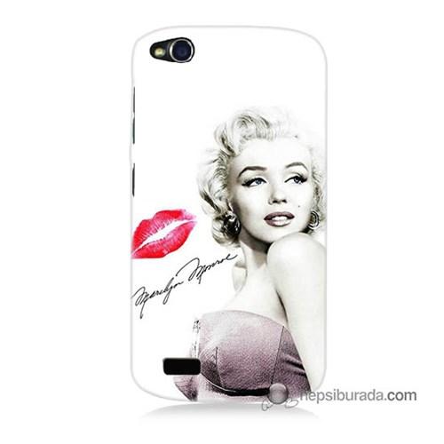 Teknomeg General Mobile Discovery Kapak Kılıf Marilyn Monroe Baskılı Silikon