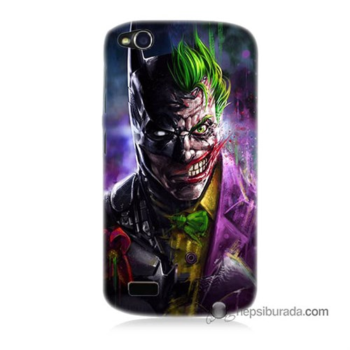 Teknomeg General Mobile Discovery Kılıf Kapak Batman Vs Joker Baskılı Silikon