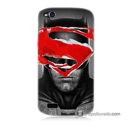 Teknomeg General Mobile Discovery Kapak Kılıf Batman Vs Superman Baskılı Silikon