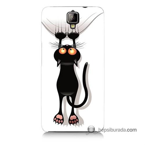 Teknomeg General Mobile Discovery 2 Kılıf Kapak Kara Kedi Baskılı Silikon