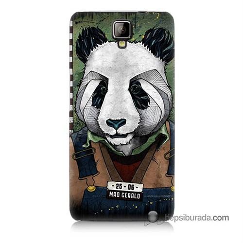 Teknomeg General Mobile Discovery 2 Kapak Kılıf İşçi Panda Baskılı Silikon
