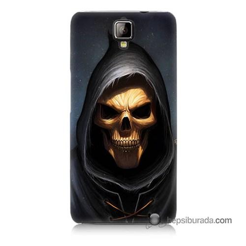 Teknomeg General Mobile Discovery 2 Kılıf Kapak Ölüm Meleği Baskılı Silikon