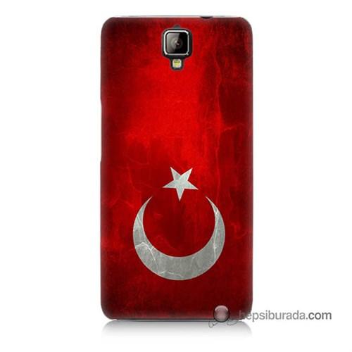 Teknomeg General Mobile Discovery 2 Kılıf Kapak Türkiye Bayrağı Baskılı Silikon