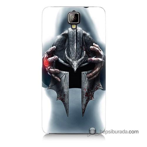 Teknomeg General Mobile Discovery 2 Kılıf Kapak Assassins Creed Baskılı Silikon
