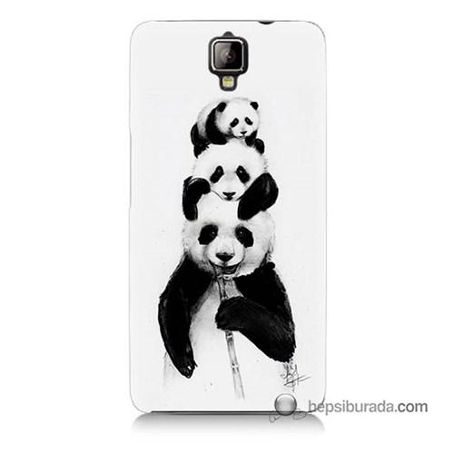 Teknomeg General Mobile Discovery 2 Plus Kapak Kılıf Panda Ailesi Baskılı Silikon
