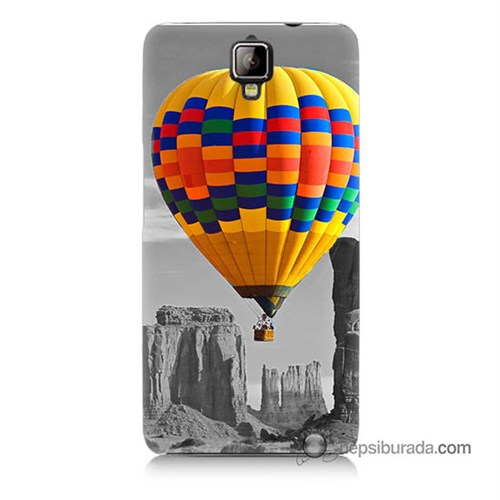 Teknomeg General Mobile Discovery 2 Plus Kılıf Kapak Renkli Uçan Balon Baskılı Silikon