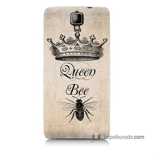 Teknomeg General Mobile Discovery 2 Plus Kılıf Kapak Queen Bee Baskılı Silikon