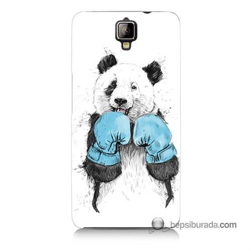 Teknomeg General Mobile Discovery 2 Plus Kılıf Kapak Boksör Panda Baskılı Silikon