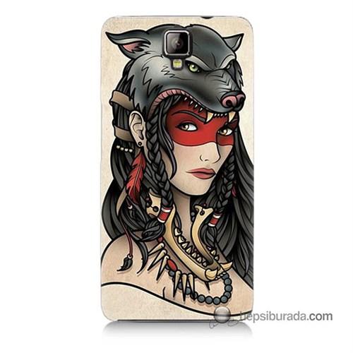 Teknomeg General Mobile Discovery 2 Plus Kapak Kılıf Pocahontas Baskılı Silikon