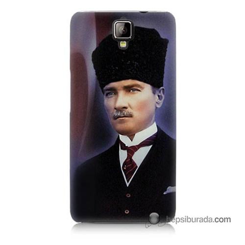 Teknomeg General Mobile Discovery 2 Plus Kılıf Kapak Mustafa Kemal Atatürk Baskılı Silikon