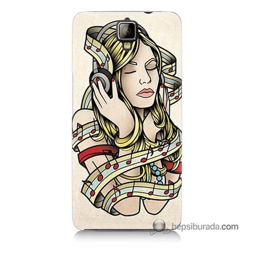 Teknomeg General Mobile Discovery 2 Plus Kapak Kılıf Müzik Aşkı Baskılı Silikon
