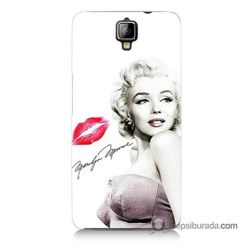 Teknomeg General Mobile Discovery 2 Plus Kapak Kılıf Marilyn Monroe Baskılı Silikon