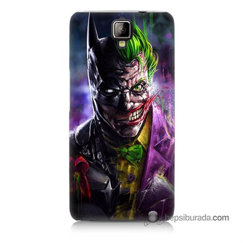 Teknomeg General Mobile Discovery 2 Plus Kılıf Kapak Batman Vs Joker Baskılı Silikon