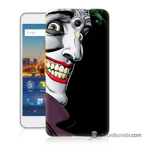 Teknomeg General Mobile 4G Android One Kapak Kılıf Joker Baskılı Silikon